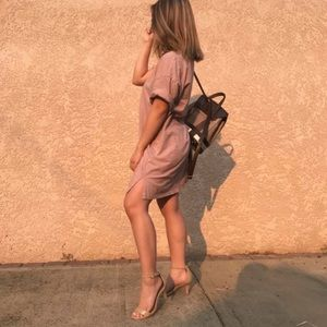 Blush Pink T-Shirt Dress